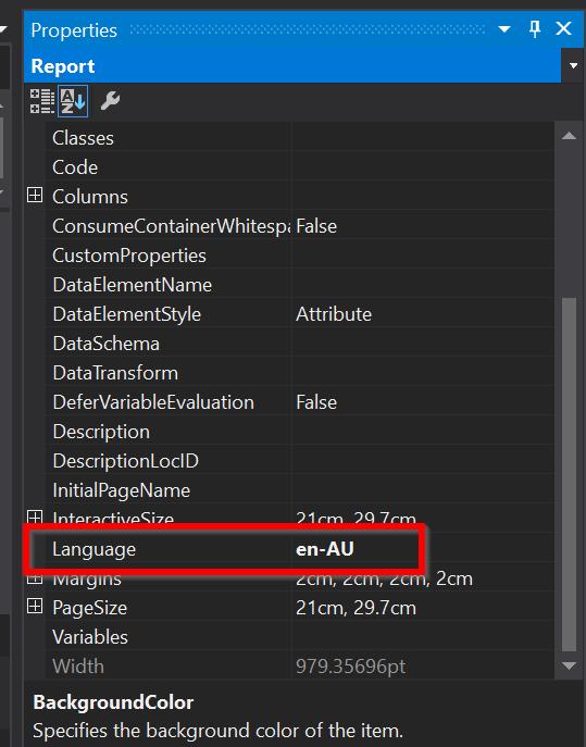 Reports - Microsoft Visual Studio